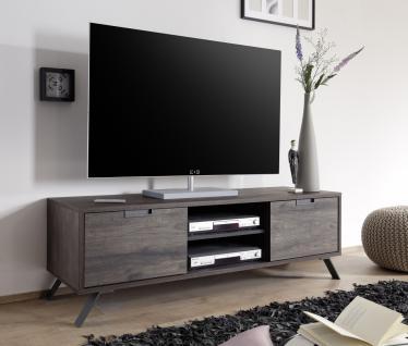 Naturae TV-Unterschrank Eiche Wenge mit Anthrazit Matt