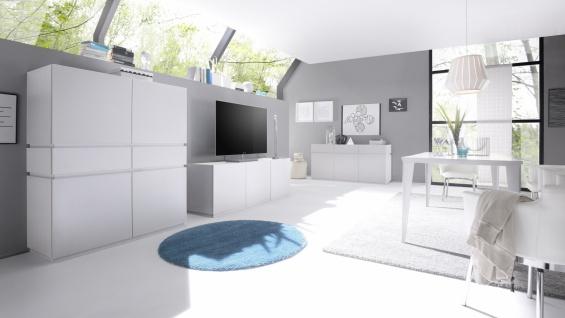 Wohnwand Bloom 3-teilig in Weiß