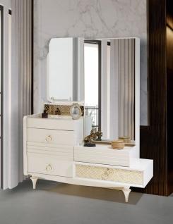 Schlafzimmer Spiegelkommode Pena in Weiß