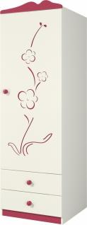 Sakura Kleiderschrank mit 1 Türe und 2 Schubkästen