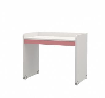 Jugendzimmer Schreibtisch Neo Weiß Rosa