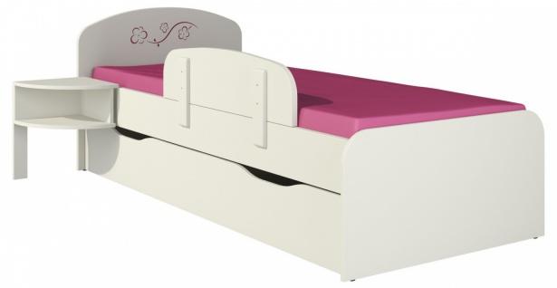 Kinderbett mit Bettkasten in Creme Sakura 80x190