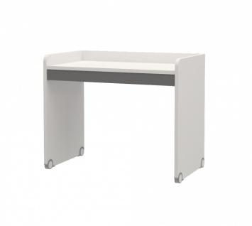 Schreibtisch Neo für Hochbetten Weiß Grau