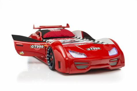 Autobett GT 999 Rot mit Türen und Chrom Felgen - Vorschau 2