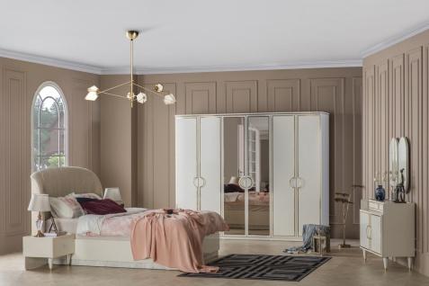 Weltew Schlafzimmer 5-teilig 180x200 cm Gino Creme