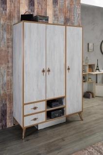 Kleiderschrank Pearl White 3-türig in modernem Design