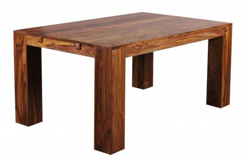 Design Esstisch Sheesham Massivholz 160 - 240 cm ausziehbar