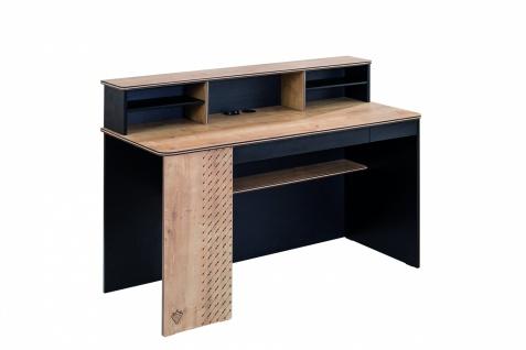 Cilek Black Schreibtisch mit Aufsatz und USB