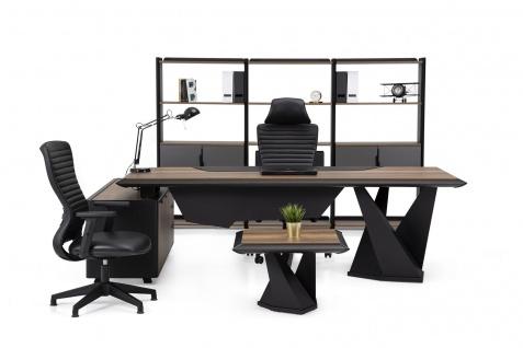 Ovali Büromöbel komplett 4-teilig Origami ll Schwarz