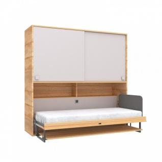 Schrankbett in Holz Optik Beige Harmony 90x200