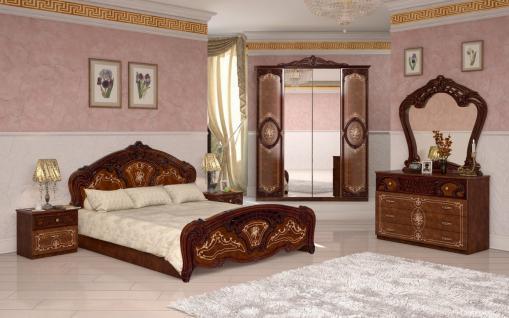 Barock Schlafzimmer-Set Julianna 4-teilig in Walnuss