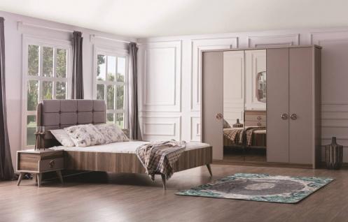 Weltew Schlafzimmer Set Retaro in Holzoptik 180x200cm