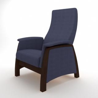 Sessel mit Gleitfunktion Balance G1 Walnuss Denim Blau
