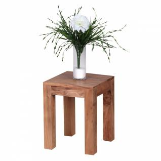 Massivholz Beistelltisch 35 x 35 x 45 Akazie