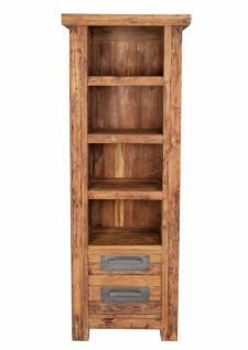 Bücherregal Neum mit 4 Böden aus recyceltem Teakholz