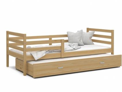 Kinderbett mit Gästebett Kiefer massiv Rico 80x190