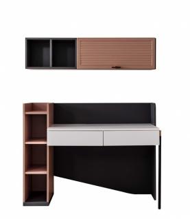 Schreibtisch Avsa mit Hängeschrank & Soft Close