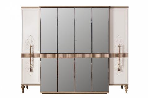 Kleiderschrank Beyoglu mit Spiegel und Soft Close