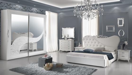Schlafzimmer Set Gisella in Weiß 4-teilig 160x190