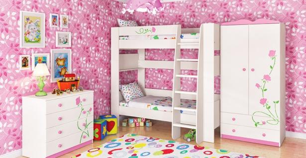 Kinderzimmer Creme Rosa Rosalia 3-teilig