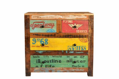 Kommode Altholz Avias mit 4 Schubladen