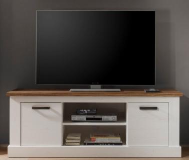 TV Element Belen Weiß Nussbaum Optik