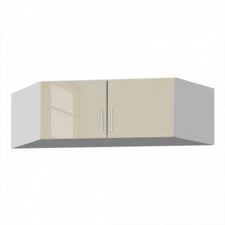 Eckschrankaufsatz CELLE sandgrau / alpinweiß 117 x 39 x 117 cm