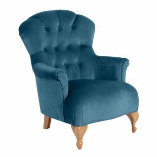 Sessel Camilla samtiger Velourstoff, verschiedene Farben