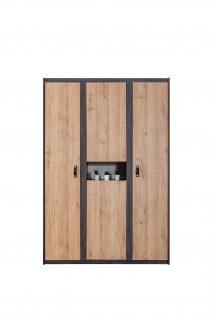 Odacix Kleiderschrank Aktif 4-türig mit Dekorationsfach