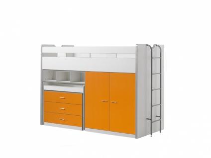 Bonny Hochbett mit Kleiderschrank 90x200 Orange
