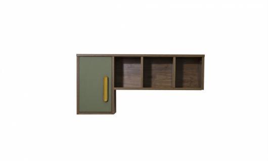 Schreibtischaufsatz Wandregal Trendy in Holzoptik Grün