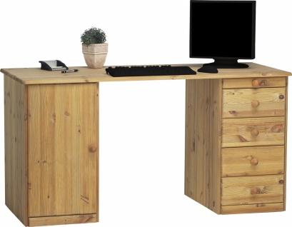 Schreibtisch in Kiefer Geölt Kenny 1-türig