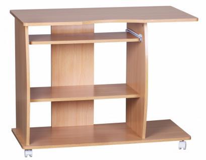 Computertisch Diana Buche mit Rollen 90 cm