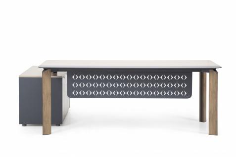 Ovali Design Schreibtisch 2-teilig Twist L3 200x90 cm