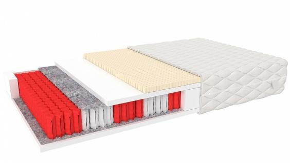 Taschenfederkernmatratze mit Latex Hakon 100x200