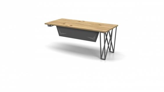 Büro Schreibtisch in L-Form Window 180x80 - Vorschau 3