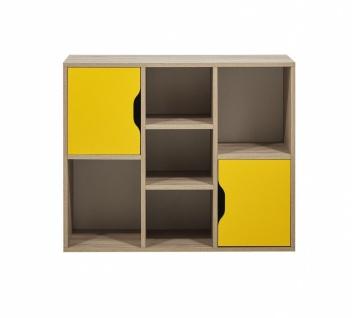 Bücherregal Nova Summer mit Türen in Eiche Optik
