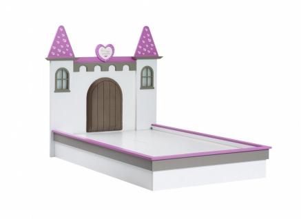 Mädchen Kinderbett Prinzessin Castle 120x200