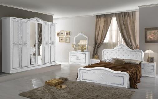 Schlafzimmer in Weiß Christina mit 4-türigem Schrank - Vorschau