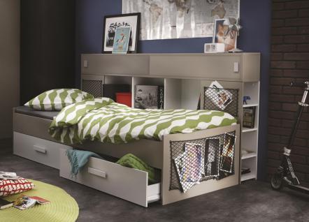 Kinderbett Agnesa 90x200cm in Weiß-Ton