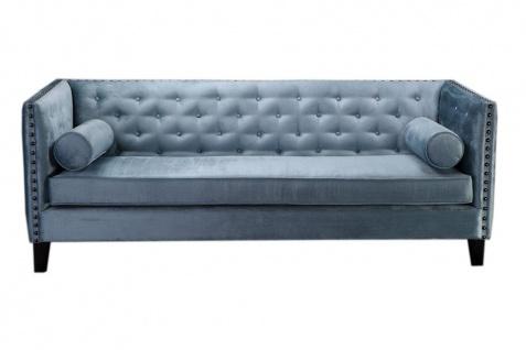 Sofa SIT4Sofa blau / grau 215 x 80 x 80 cm