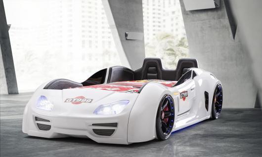 Autobett GT X mit Sportsitzen Weiß