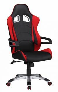 SPEED Racing Chefsessel schwarz/rot Bürostuhl Drehstuhl mit synchronisierter Mechanik