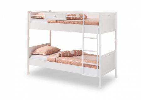 Cilek Romantica Etagenbett Weiß je 90x200