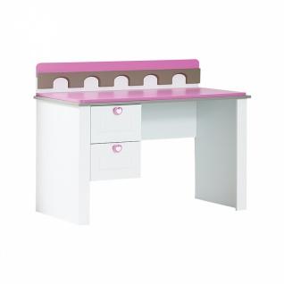 Almila Kinderschreibtisch Prinzessin Castle in Weiß Pink