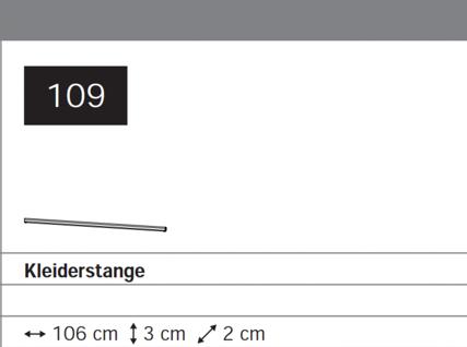 Kleiderstange 106 cm
