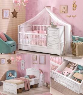 Cilek Selena mitwachsendes Babybett Weiß 75x160 - Vorschau 3