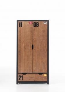 Kleiderschrank Alex 2-türig aus Massivholz