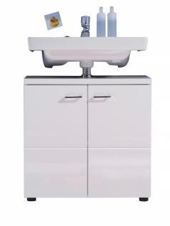 Waschbeckenunterschrank Mile 2-türig in Weiß