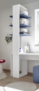 Design Regal mit drei Böden in Blau Space